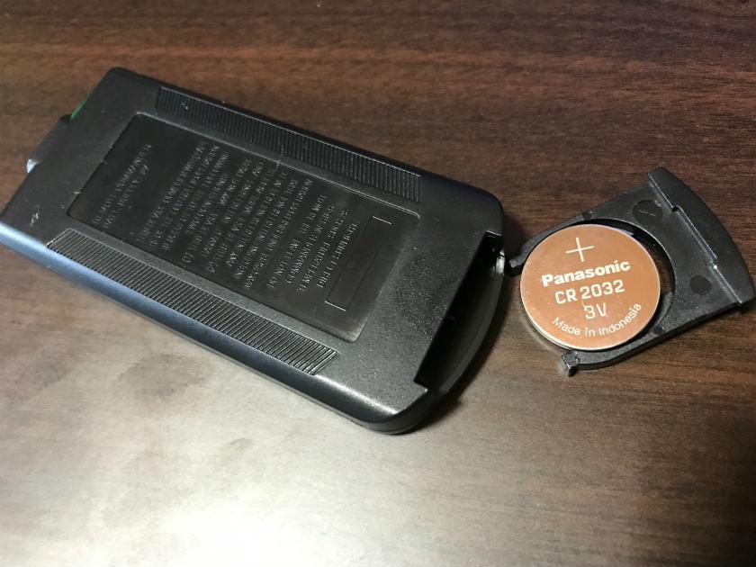 EzCAPHDのリモコンの電池